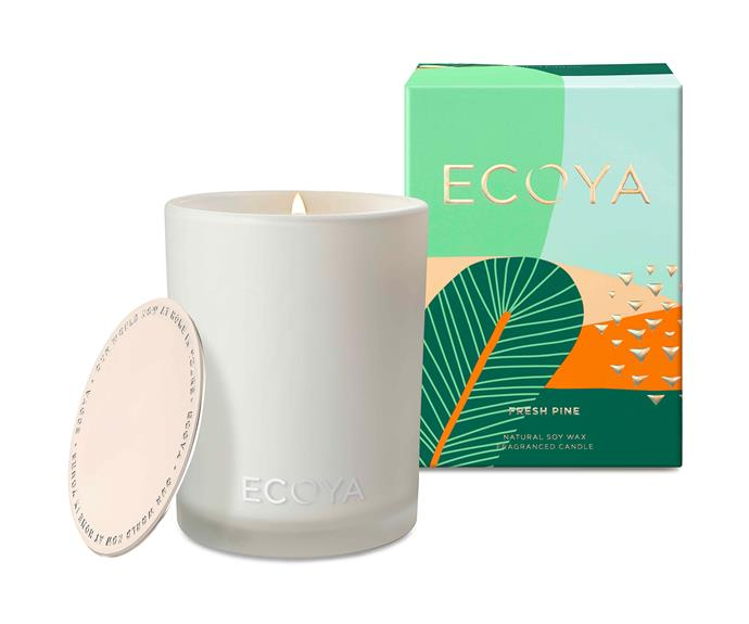 "Fresh Pine Madison Jar, $44.95, [Ecoya](https://www.ecoya.com.au/collections/fresh-pine/products/fresh-pine-madison-jar|target=""_blank""|rel=""nofollow"")."