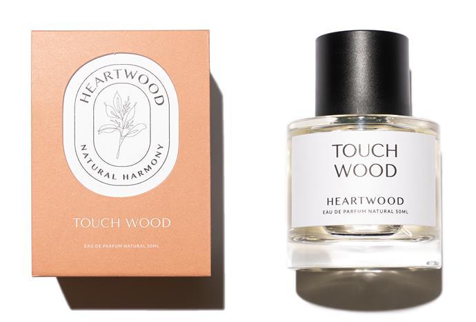 "Touch Wood Ea du Parfum, $210, [Heartwood](https://heartwoodco.com.au/products/hea7|target=""_blank""|rel=""nofollow"")."