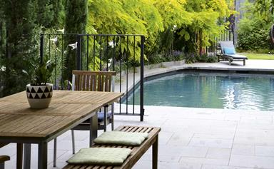 A tranquil garden design in the inner-city with country appeal