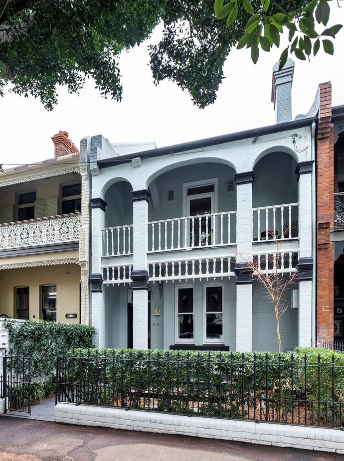 The terrace's characterful facade was built in 1901.