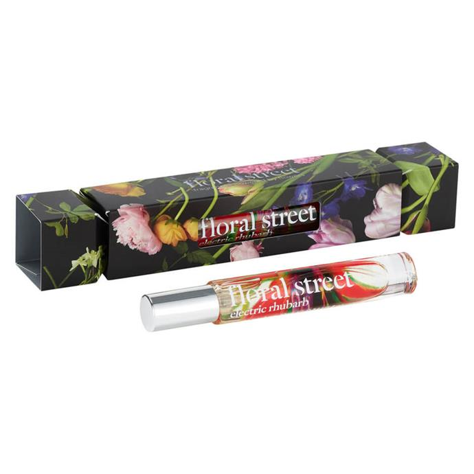"Floral Street Electric Rhubarb EDP Holiday Cracker, $45, [Mecca](https://www.mecca.com.au/floral-street/electric-rhubarb-edp-holiday-cracker/I-045728.html|target=""_blank""