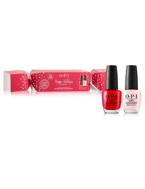 "OPI Christmas Bon Bon Gift, Bubble Bath & Big Apple Red, $24.95, [David Jones](https://www.davidjones.com//23752950/OPI-Christmas-Bon-Bon-gift-ft.-Bubble-Bath-And-Big-Apple-Red.html|target=""_blank""