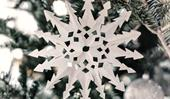 How to make snowflake Christmas decorations