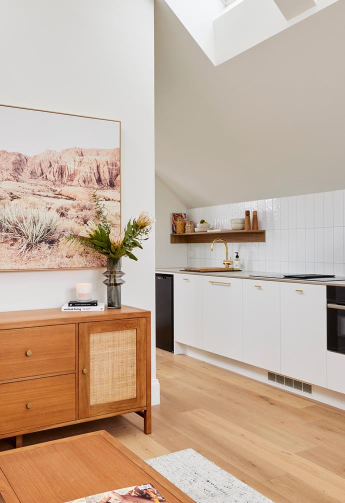 "**[Week 11, Studio Week and Garage](https://www.homestolove.com.au/the-block-2020-studio-and-garage-reveal-21980|target=""_blank"")** A beautiful palette of warm timber tones, fresh whites and brass accents create a luxurious feel in Jimmy and Tam's studio space."