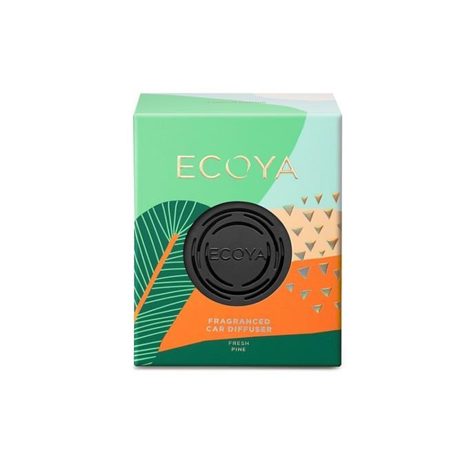 "Fresh pine car diffuser, $19.95, [Ecoya](https://www.ecoya.com.au/collections/car-diffuser/products/fresh-pine-car-diffuser|target=""_blank""|rel=""nofollow"")"