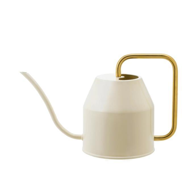 "VATTENKRASSE watering can, $12.99, [Ikea](https://www.ikea.com/au/en/p/vattenkrasse-watering-can-ivory-gold-colour-90394154/?utm_source=google&utm_medium=surfaces&utm_campaign=shopping_feed&utm_content=free_google_shopping_clicks_Decoration&gclid=Cj0KCQiAwMP9BRCzARIsAPWTJ_HSbVB4VOk0W-GKTm2bfqAcBNKzy_ppXPqJ6nb0FwFjyXITV3h9oRAaApZQEALw_wcB|target=""_blank""|rel=""nofollow"")"