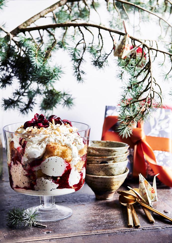 Julia is bringing a taste of Italy home this Christmas with a pandoro, raspberry and ricotta trifle.
