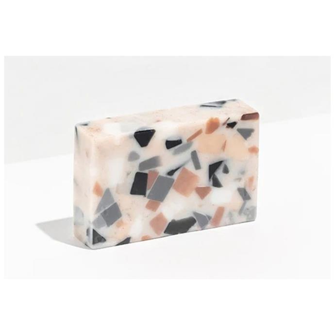 "Fazeek absolute terrazzo soap, $16, [Top3 by Design](https://top3.com.au/|target=""_blank""|rel=""nofollow"")"