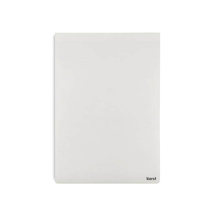 """Karst stone paper notepad A4, $29.95, [Milligram](https://milligram.com/collections/write/products/stone-paper-notepad-a4