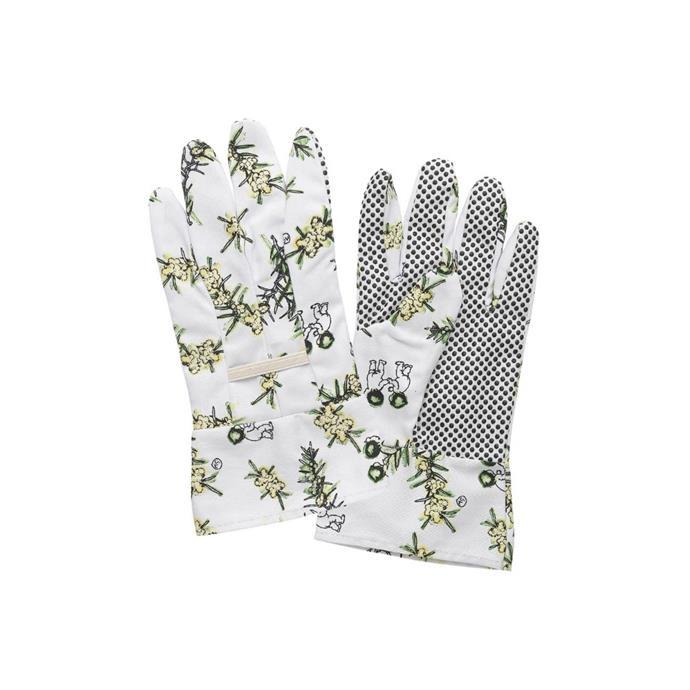 "May Gibbs by Ecology white wattle linen gardening gloves, $16.95, [Temple & Webster](https://www.templeandwebster.com.au/White-Wattle-Gardening-Linen-Gloves-EC10066-ELGY1662.html?refid=GPAAU447-ELGY1662&device=c&ptid=932582155431&gclid=CjwKCAiAkan9BRAqEiwAP9X6URMEvvbWdNtn2GtXi0HjZ3WaQ3bqCcL1lWsmE1Legx94wb2uUZulyRoCJIQQAvD_BwE|target=""_blank""|rel=""nofollow"")"