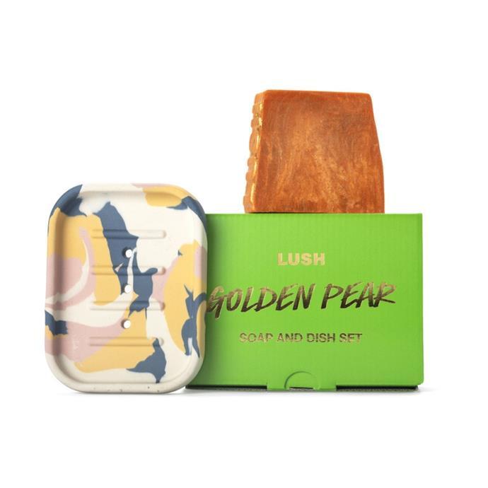 "Golden pear soap & dish set, $29, [Lush](https://au.lush.com/products/christmas-gifts/golden-pear-soap-dish-set|target=""_blank""|rel=""nofollow"")"