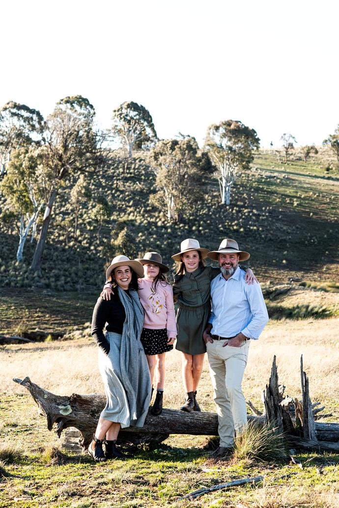 Michelle and Murray Prior, with their daughters, Tilly and Maddy, searched for a decade for their farm.