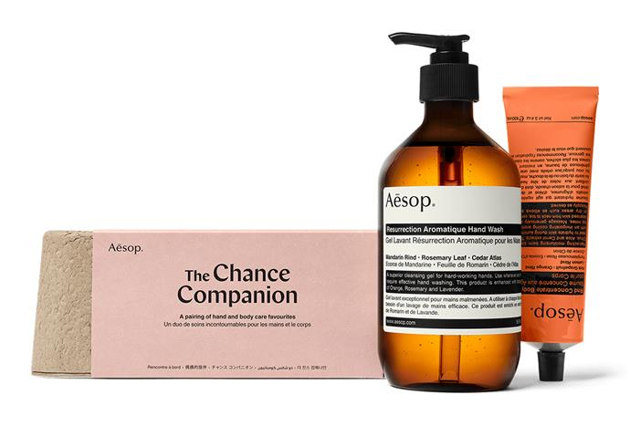 "Aesop The Chance Companion: Basic Body Care Kit, $67, [Adore Beauty](https://www.adorebeauty.com.au/aesop/aesop-the-chance-companion-basic-body-care-kit.html|target=""_blank""