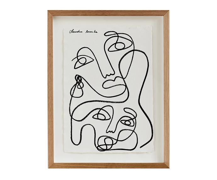 "Claudia Miranda x Bed Threads 'Love' Print, $80, [Bed Threads](https://bedthreads.com.au/products/claudia-miranda-x-bed-threads-love-print target=""_blank"" rel=""nofollow"")."
