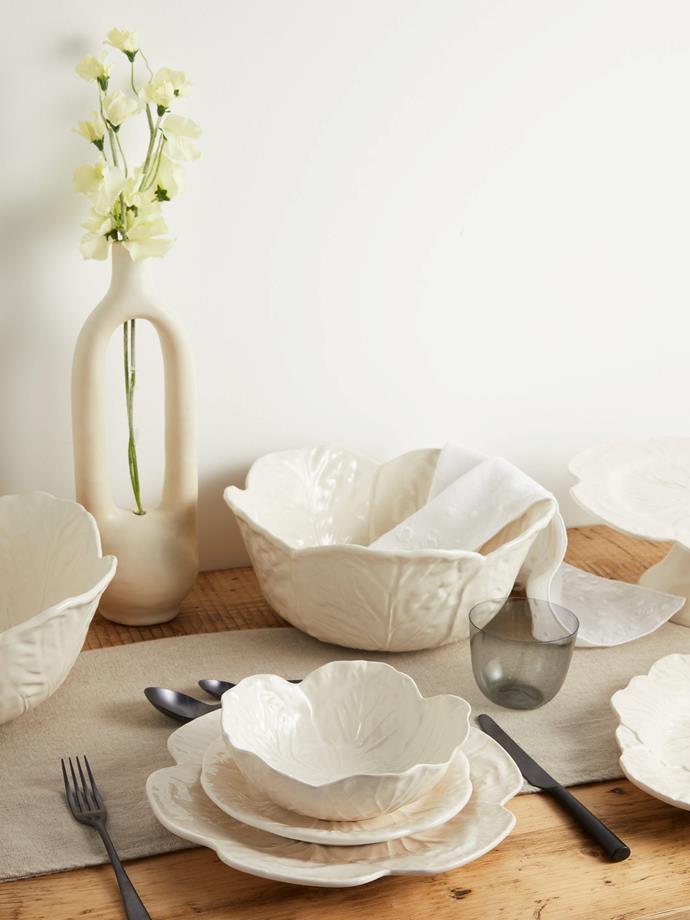 "Bordallo Pinheiro Cabbage earthenware side plate, $13, [MatchesFashion](https://www.matchesfashion.com/au/products/Bordallo-Pinheiro-Cabbage-earthenware-side-plate-1341501|target=""_blank""|rel=""nofollow"")"