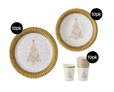 Paper Tableware 10pk, $1.99.