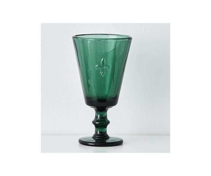"Fleur de Lys Goblet in Forest $14.95, [Provincial Home Living](https://www.provincialhomeliving.com.au/dining/tableware/fleur-de-lys-goblet-1117259331 target=""_blank"" rel=""nofollow"")"