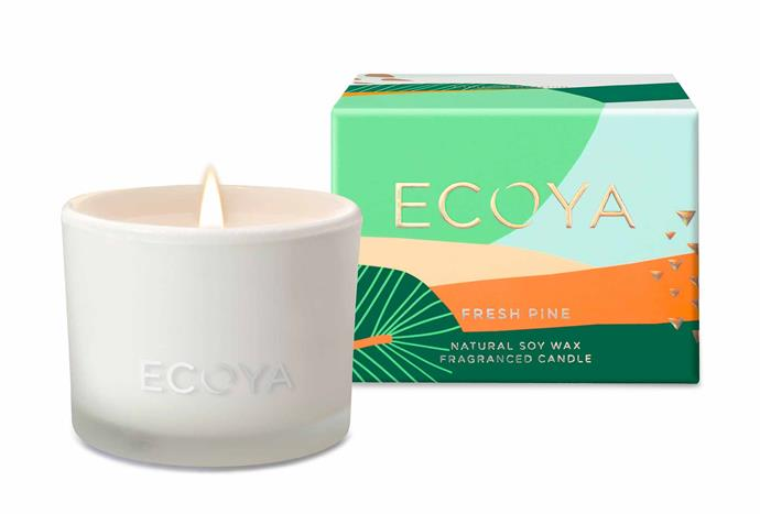 "Fresh Pine Candle, $19.95, [Ecoya](https://www.ecoya.com.au/collections/celebrating-traditions/products/fresh-pine-monty-jar|target=""_blank""