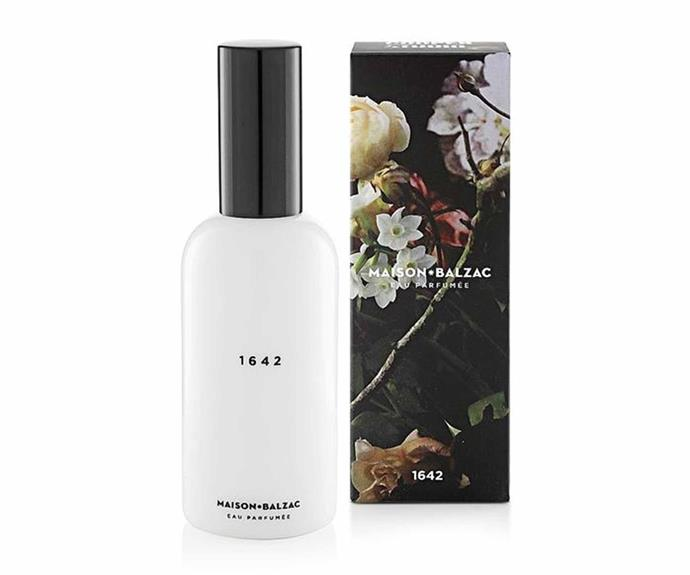 """Maison Balzac 1642 Scented Water, $49, [Adore Beauty](https://www.adorebeauty.com.au/maison-balzac/maison-balzac-1642-scented-water-100ml.html