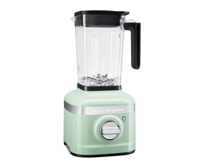 "KitchenAid K400 Blender in Pistachio, $499, [KitchenAid](https://kitchenaid.com.au/products/k400-variable-speed-blender-ksb4027?variant=35441909497928|target=""_blank""