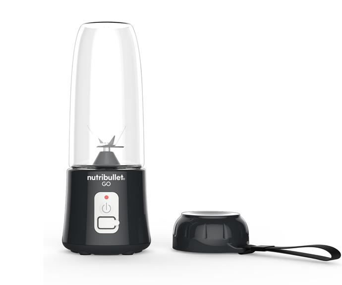 "NutriBullet GO, $79, [Nutribullet](https://www.bulletbrands.com.au/collections/personal-blenders/products/nutribullet-go|target=""_blank""