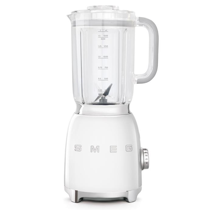 "Smeg 50s Retro Style Blender in White, $249, [The Good Guys](https://www.thegoodguys.com.au/smeg-50s-retro-style-blender---white-blf01whau|target=""_blank""