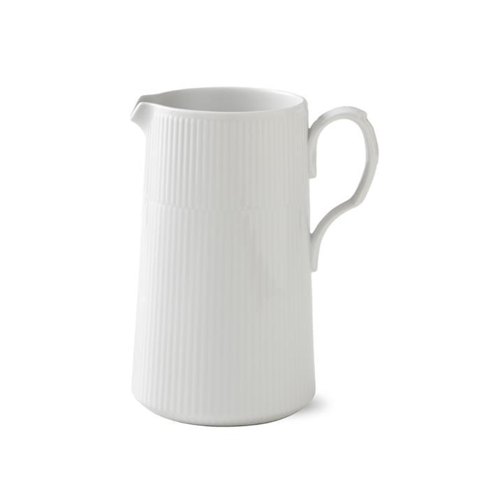 """Royal Copenhagen 'Modern' jug (1.6L), $199, *[royalcopenhagen.com.au](https://www.royalcopenhagen.com.au/white-fluted-modern-jug-1.6l.html target=""""_blank"""" rel=""""nofollow"""")*"""