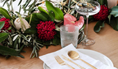 Decorating ideas for a traditional red and white Christmas