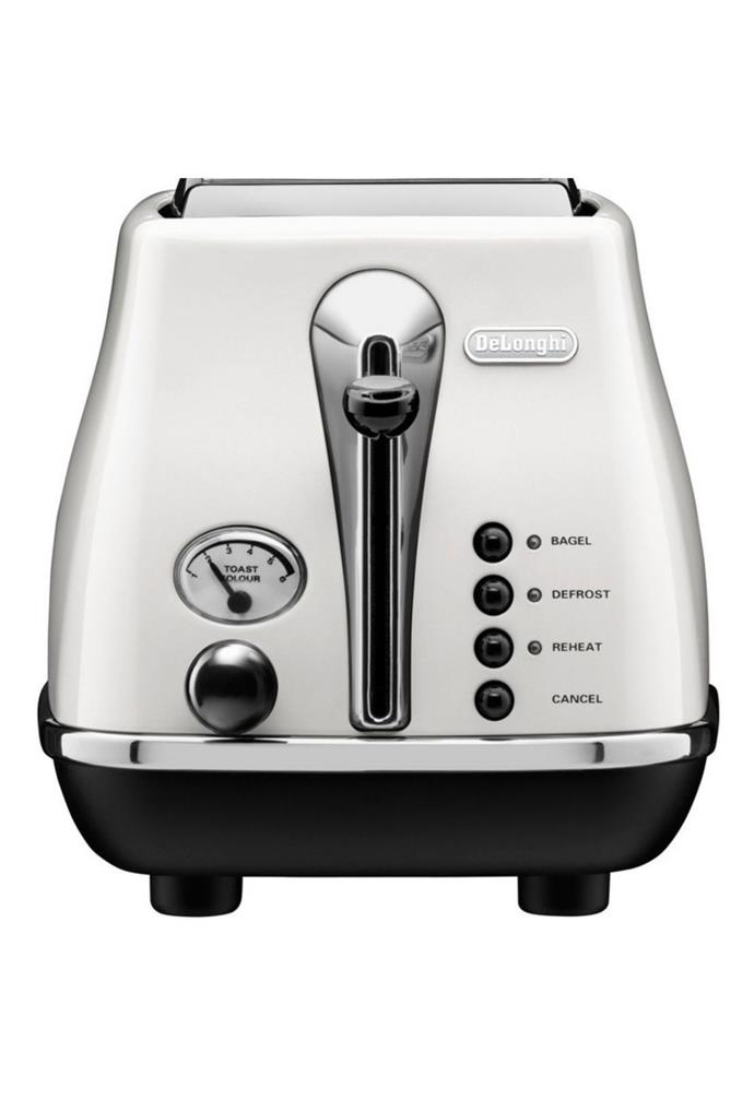 "**Icona White 2 Toaster, $65, [DeLonghi](https://www.myer.com.au/p/delonghi-cto2003w-icona-white-2-toaster|target=""_blank""