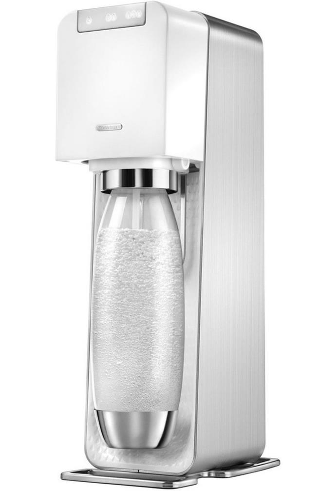 "**Source Power Sparkling Water Maker Silver/White Metal, $179, [SodaStream](https://www.myer.com.au/p/source-power-white-312867730|target=""_blank""