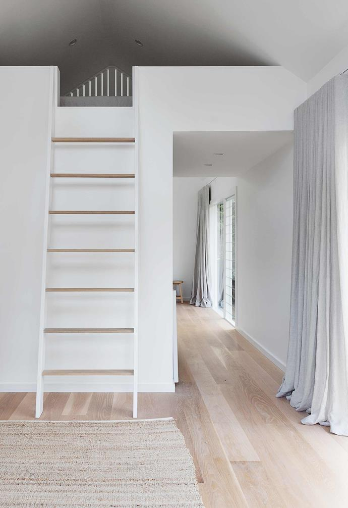 """**Studio** The same materials are used in this separate dwelling, including the American oak flooring with a matt oil finish by [Synteko](http://synteko.com.au/
