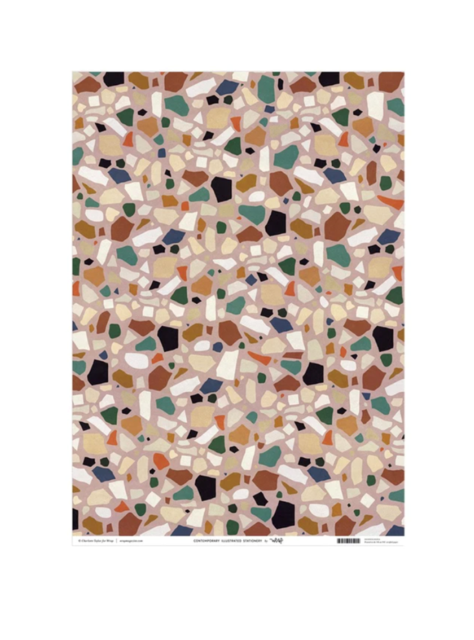 """Terrazzo wrap, $4.95, [Milligram](https://milligram.com/collections/wrap/products/wrap-terrazzo-wrapping-paper