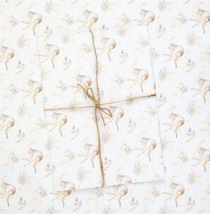 "Australian Christmas Wrapping Paper, $5.99, [Stephanie Elizabeth Artwork](https://stephanieelizabethartwork.com/collections/wrapping-paper/products/australia-christmas-wrapping-paper|target=""_blank""|rel=""nofollow"")"