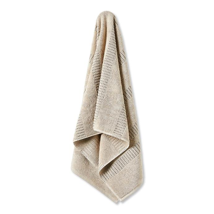 """Home Republic Phoenix Pebble Towels, from $19, [Adairs](https://www.adairs.com.au/bathroom/towels/home-republic/phoenix-pebble-towels/ target=""""_blank"""" rel=""""nofollow"""") <br><br> There's nothing better than the feeling of wrapping yourself in a fresh, fluffy towel after a hot shower so why not treat someone you love to a new set of stylish bath towels."""