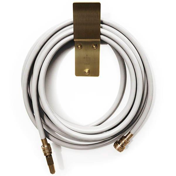 """LEPAAR GardenLust Luxe Ivory Hose with Brass Nozzle + Wall Mount, from $249, [Designstuff](https://www.designstuff.com.au/product/lepaar-gardenlust-luxe-ivory-hose-with-brass-nozzle-wall-mount/ target=""""_blank"""" rel=""""nofollow"""") <br><br> Who knew watering the garden could look this chic? Made from agricultural-grade and kink-resistant rubber, each Lepaar GardenLust Hose has been crafted to last an incredibly long time. And, they're Australian-made!"""