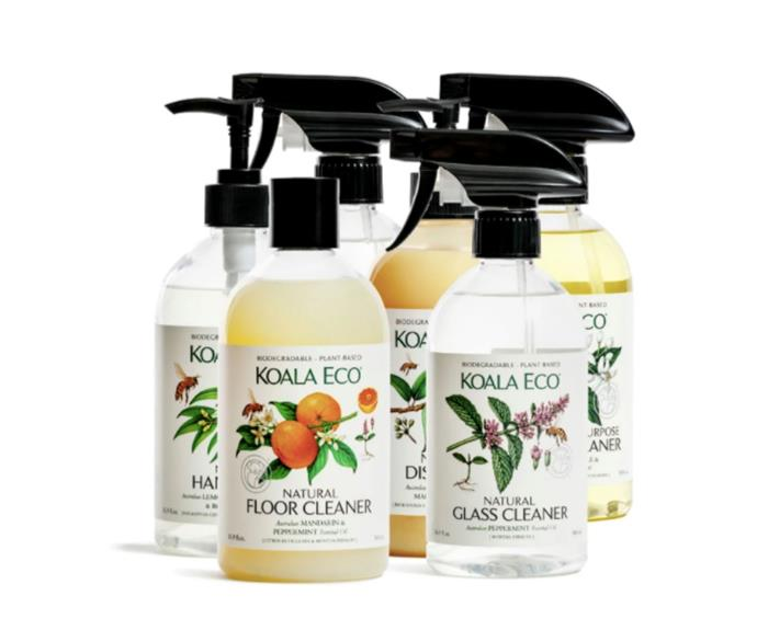 """Natural Complete Cleaning Collection, $63.76, [Koala Eco](https://koala.eco/collections/all-products/products/all-natural-cleaning-collection target=""""_blank"""" rel=""""nofollow"""") <br><br> Cleaning products might seem like an odd thing to gift someone but when they look, smell and work as good as Koala Eco's range of natural cleaning  solutions, they will be thanking you later when their home is sparkling and smelling fresh."""