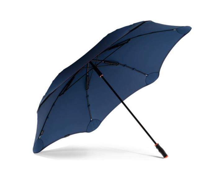 "BLUNT Sport umbrella in Navy/Orange, $199, from [Blunt](https://bluntumbrella.com.au/products/2020-blunt-sport?variant=32075274977385|target=""_blank""|rel=""nofollow"")"