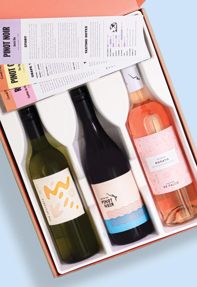 """**GOOD PAIR DAYS**<br><br>One of the greatest trends to emerge over the past few years is our undeniable love for personalisation. Wine subscription service [Good Pair Days](https://www.goodpairdays.com/ target=""""_blank"""" rel=""""nofollow"""") takes that personalisation to the next level, creating specially tailored wine deliveries that are pulled together to match your preferences after you fill out a palate quiz."""