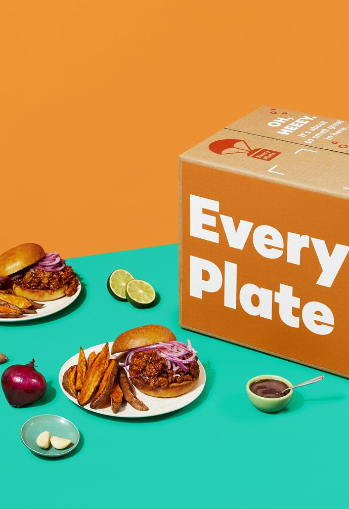 """**EVERY PLATE**<br><br>In our busy and time-poor lives, there's nothing more stressful than agonising over what to eat throughout the week. [Meal-kit service Every Plate](https://imp.i339540.net/c/2398859/960343/11783 