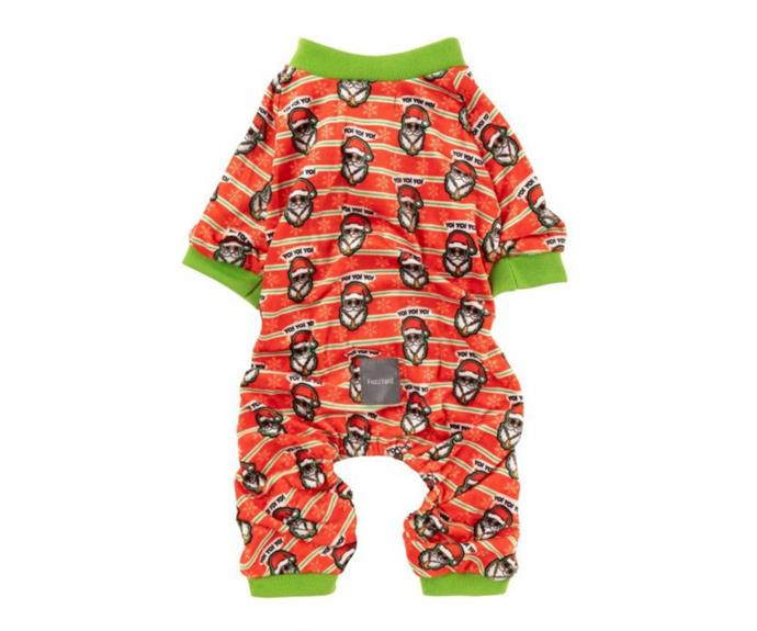 "Yo! Santa Pyjamas, $34.95, [Fuzzyard](https://fuzzyard.com/au/yo-santa-pyjamas.html|target=""_blank""|rel=""nofollow"")"