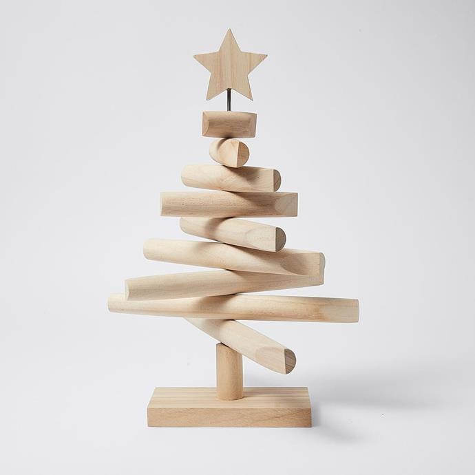 "Modern Table Top Wooden Christmas Tree, $25, [Target](https://www.target.com.au/p/modern-table-top-wooden-christmas-tree/63834987?utm_term=63834987&utm_content=modern-table-top-wooden-christmas-tree&utm_source=google&utm_medium=merchant-site&utm_campaign=merchant-site&gclid=Cj0KCQiAwf39BRCCARIsALXWETymz2wTWNwtM9tavn5MirVscVm4f3T_W-u2ar6CPVTe-AHj1FTKM_0aAui2EALw_wcB&gclsrc=aw.ds target=""_blank"" rel=""nofollow"")"