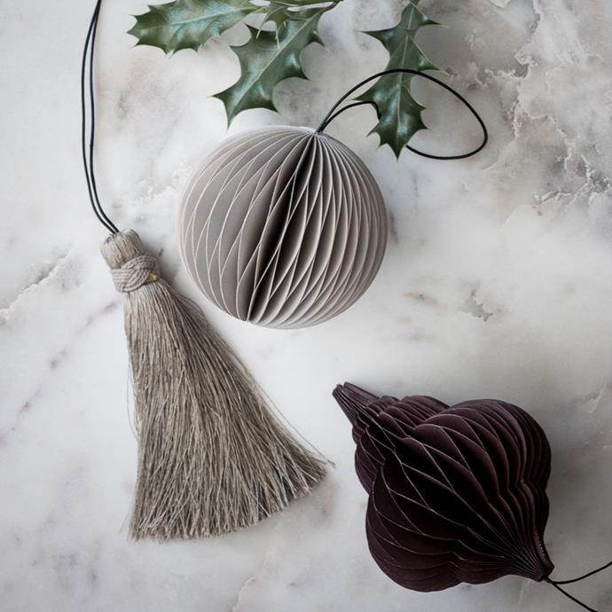 "NORDSTJERNE Chocolate Jewel Christmas Decorations, $10, [Design Stuff](https://www.designstuff.com.au/product/nordstjerne-chocolate-jewel-christmas-decorations/ target=""_blank"" rel=""nofollow"")"