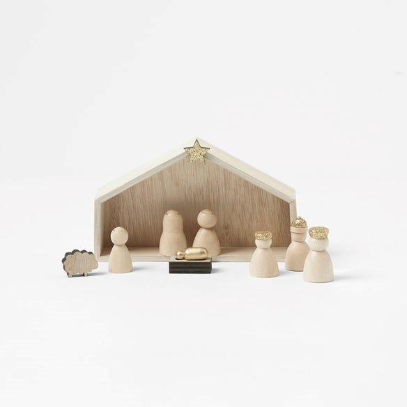 "Morgan & Finch Wooden Mini Nativity Set, $12.99, [Bed, Bath N' Table](https://www.bedbathntable.com.au/te-wooden-mini-nativity-s9-natural-21165201 target=""_blank"" rel=""nofollow"")"