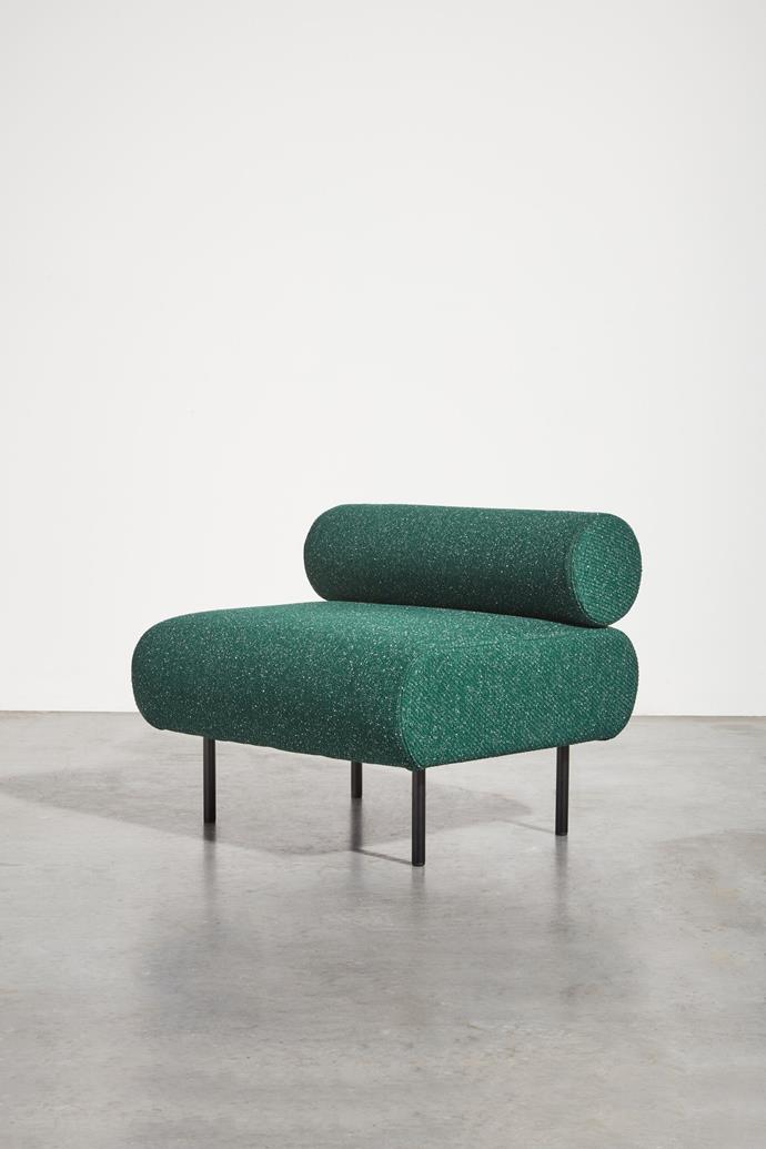 """Gibson Karlo 'Cabin Seat' chair, from $1799, [DesignByThem](https://www.designbythem.com/products/cabin-seat?variant=33328460922968