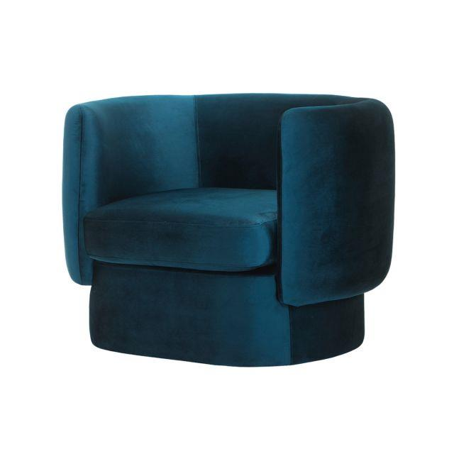 "Curve armchair in Petrol, $1159, [Love Tree Interiors](https://www.thefamilylovetree.com.au/curve-arm-chair-petrol|target=""_blank""