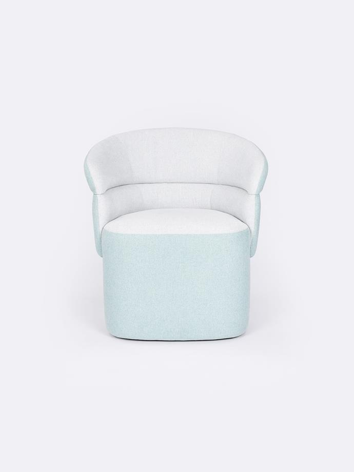 """Judy chair in Mint, $795, [The Rug Collection](https://www.therugcollection.com.au/product/judy-chair/