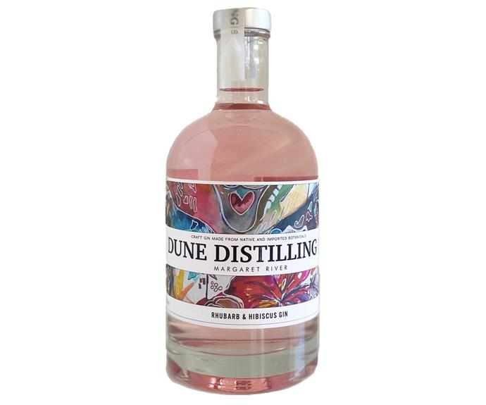 "Dune Distilling Hibiscus & Rhubarb Gin, $85, [Black Brewing Co](https://blackbrewingco.com.au/collections/dune-distilling-spirits/products/dune-distilling-hibiscus-rhubarb-gin|target=""_blank""