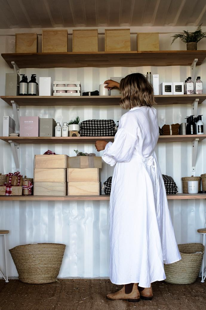 Holly hand-delivers or posts hundreds of festive hampers and gifts, which are beautifully boxed and decked with cross-grain ribbon and leather tags.