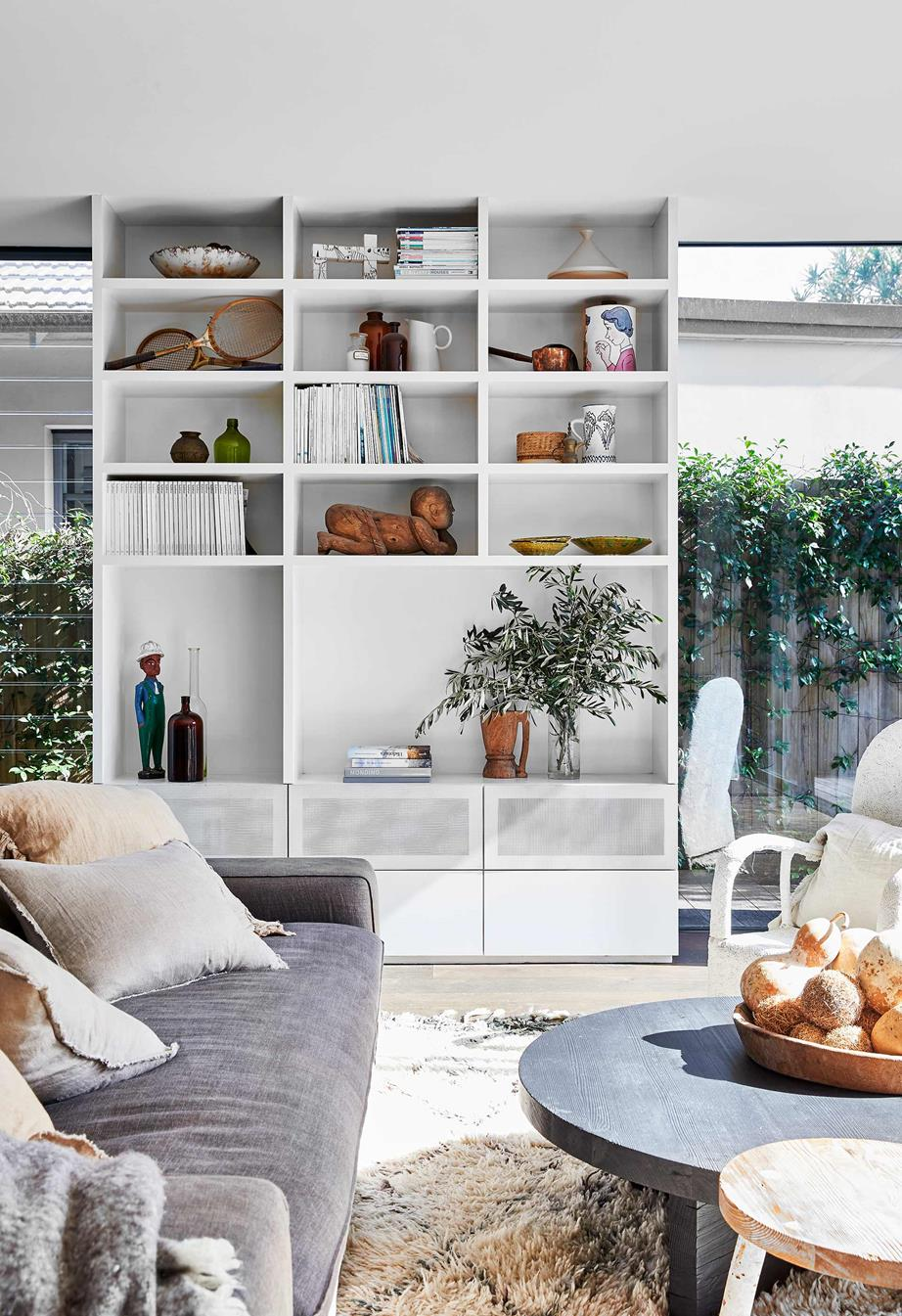 Architects neutral living room
