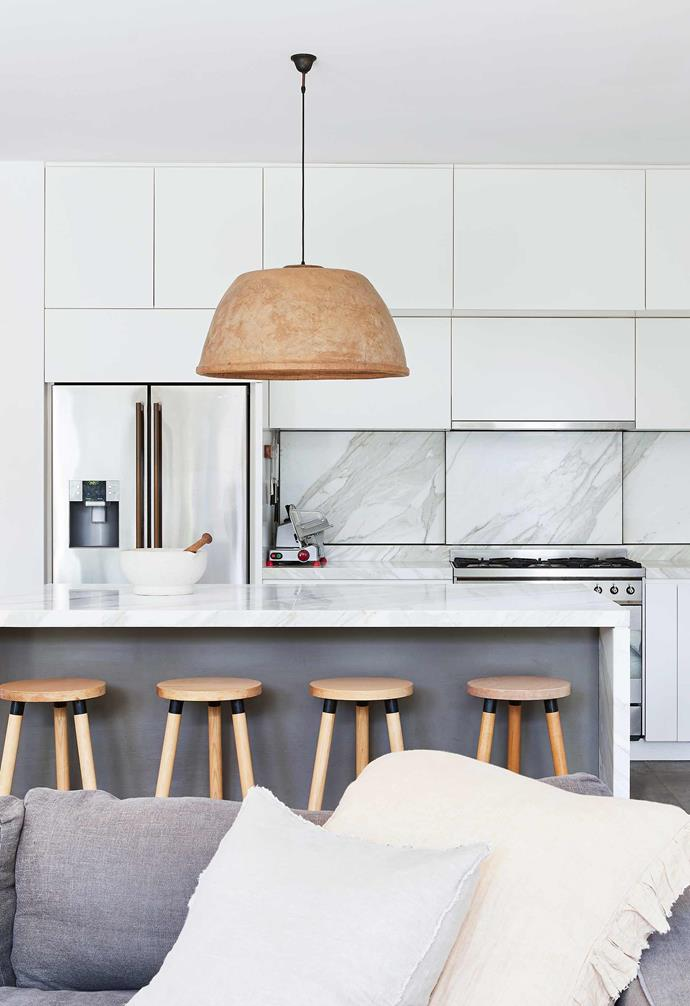 "**Kitchen** Calacatta marble from [SNB Stone](https://www.snb-stone.com/|target=""_blank""